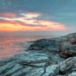 Rocky coast of Croatiat sunset — Foto Stock #6677864