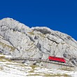 Cogwheel train at Pilatus, Switzerland — Stock Photo