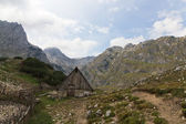 Wooden hut in National Park Durmitor, Montenegro — Stock Photo