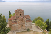 Church of Saint John Kaneo at lake Ohrid — Stock Photo