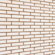 Beige colored fine brick wall texture background perspective, la - Stock Photo