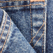 Denim Blue Jeans Pocket Detail Macro Closeup — Stock Photo