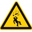 Stock Photo: Danger Falling Objects Warning Sign Isolated Macro