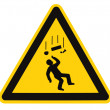 Danger Falling Objects Warning Sign Isolated Macro — Stock Photo #5743884