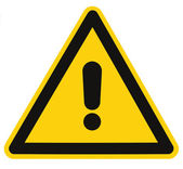 Blank Danger And Hazard Triangle Warning Sign Isolated Macro — Stock Photo