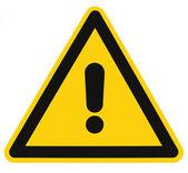 Blank Danger And Hazard Triangle Warning Sign Isolated Macro — Stock Photo