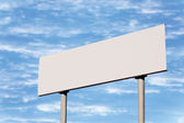 Blank Road Sign Without Frame Against Sky, Roadside Signage — Foto Stock