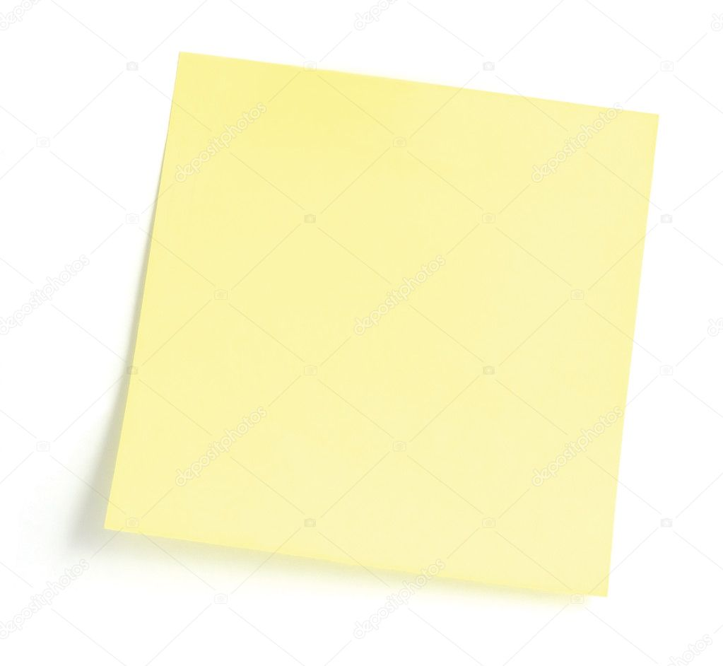 Blank Yellow To-Do List Sticker, isolated on white  Stock Photo #5799917