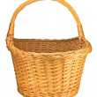 Splint Willow Wicker Basket, Isolated Closeup — Stock Photo