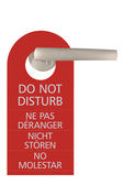 Large Red Isolated Do Not Disturb Tag — Stock Photo