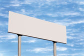 Blank White Road Sign Without Frame Against Sky Cloudscape — Stock Photo