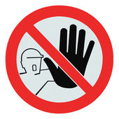 Pas d'accès pour des personnes non autorisées, signal, isolé d'avertissement — Photo