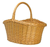 Half-Split Splint Willow Wicker Basket — Stock Photo
