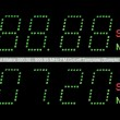 Постер, плакат: VFD Dot Matrix FM Radio Digital Display Macro In Green
