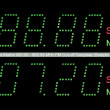 VFD Dot Matrix FM Radio Digital Display Macro In Green — Stock Photo