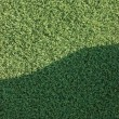 Stock Photo: Artificial grass fake turf synthetic lawn field macro closeup