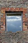 Zniszczony rustykalne wapienia głaz gruz ściany murarskie kamieniarka ru — Zdjęcie stockowe