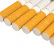 Isolated Macro Closeup Of Class A Filter Cigarettes - Stock Photo
