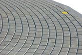 Cobblestone Pavement Texture With Yellow Brick — Stock Photo