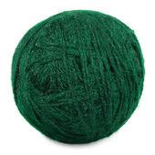 естественный зеленый тонкой шерсти шарик и поток отдельных клу макрос — Стоковое фото