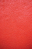 Red Grain Leather Background, Natural Texture, Vertical Macro Closeup — Stock Photo