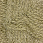 Natural beige fine wool threads texture clew macro closeup background — Stock Photo