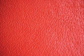 Red Grain Leather Natural Background, Macro Closeup Detailed — Stock Photo