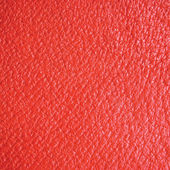 Red Grain Leather Macro Background Natural Texture — Stock Photo