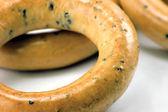 Ring Bagels Closeup Macro — Stock Photo