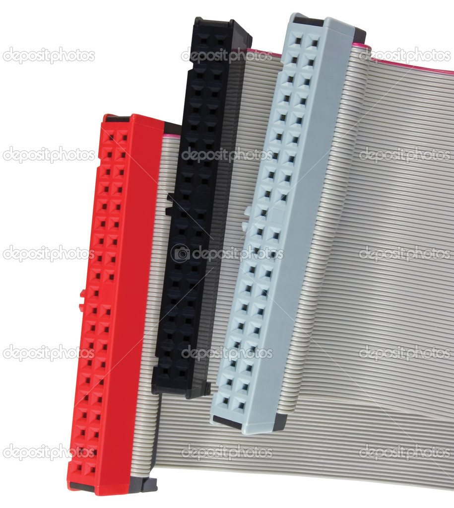 Ribbon Cable Texture : Ide connectors and ribbon cables for hard drive on pc