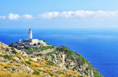 Lighthouse on cape formentor — Stock Photo