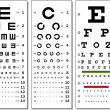Eye Chart — Vettoriali Stock