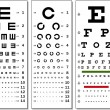 Eye Chart — Stock Vector