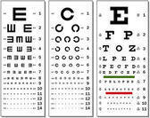 Eye Chart — Stockvector