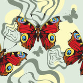 Nahtlose Hintergrund mit dekorativen schönen Schmetterlinge — Stockvektor