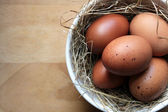 Brown Eggs in A Bowl — Stock Photo