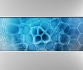 Blue technology background — Stock Photo