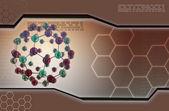 Ilustración digital de moléculas en resumen antecedentes — Foto de Stock