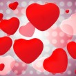 Red shiny hearts — Stock Photo