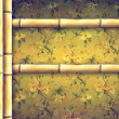 Bamboo border and decorative floral background — Stock Photo #6454843