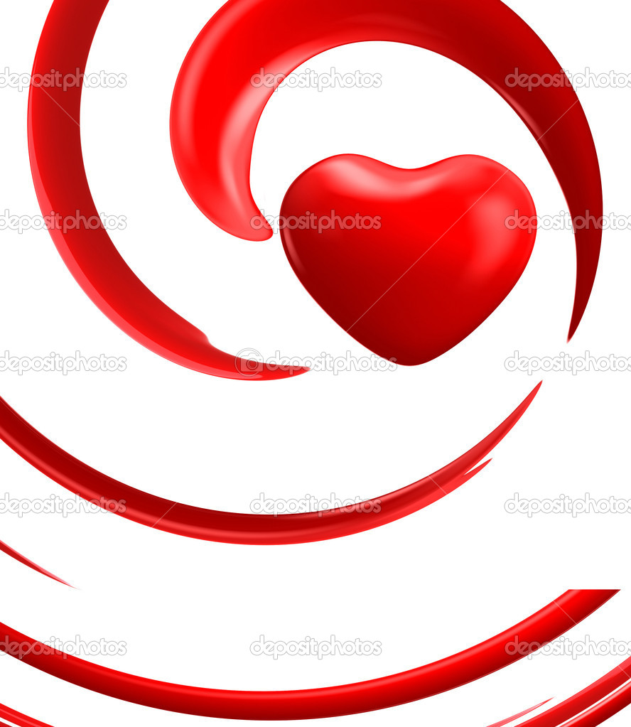 Red Heart White Background Red Hearts on White Background