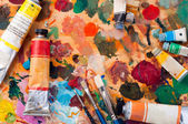 Brash and paint — Stock Photo
