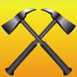 Fire axes formed a cross - Stock Vector