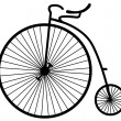 Old bicycle - Grafika wektorowa