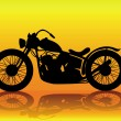 Old motorcycle - Stock Vector