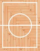 Wooden parquet basketball — Stock Vector