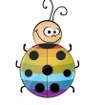 Rainbow ladybug — Stock Vector #5545743