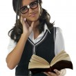 ragazza nerd — Foto Stock