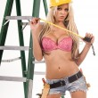 Sexy Construction Worker — Stock Photo