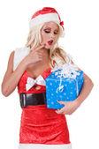 Weihnachten-helfer fragen — Stockfoto